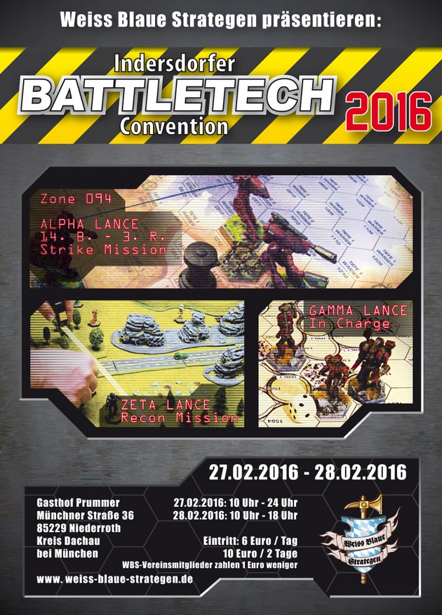 Indersdorfer Battletech Convention 2016